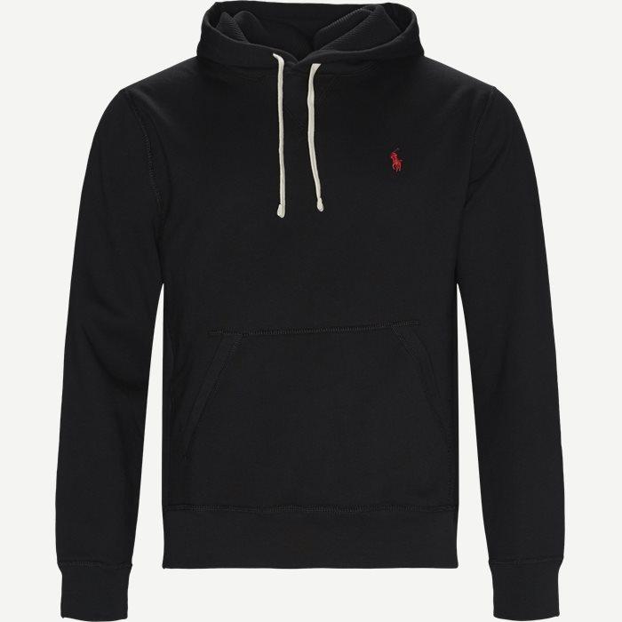 Alhletic Hoodie Sweatshirt - Sweatshirts - Regular - Sort