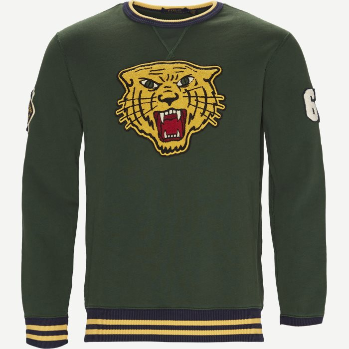 Tiger Logo Sweatshirt - Sweatshirts - Regular - Grøn