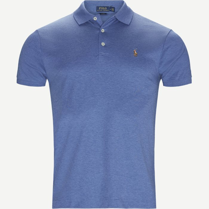 Soft-Touch Polo T-shirt - T-shirts - Slim - Denim