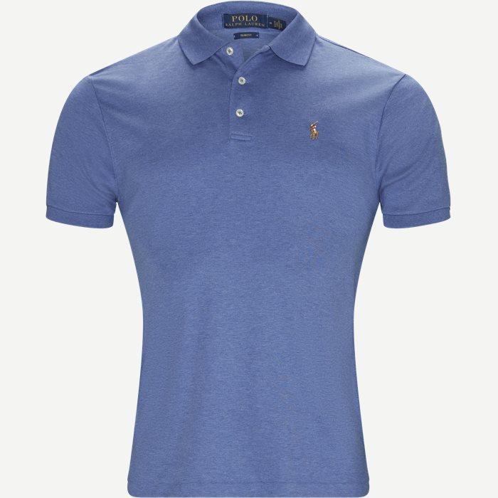 Soft-Touch Polo T-shirt - T-shirts - Slim - Denim