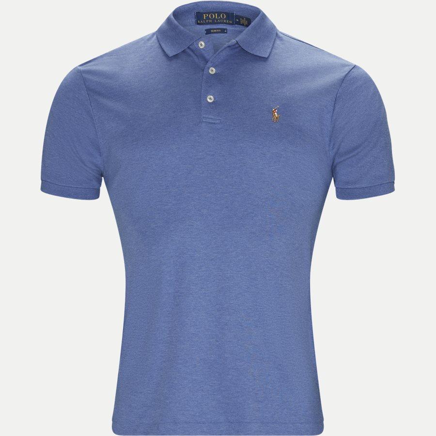 710685514 - Soft-Touch Polo T-shirt - T-shirts - Slim - DENIM - 1