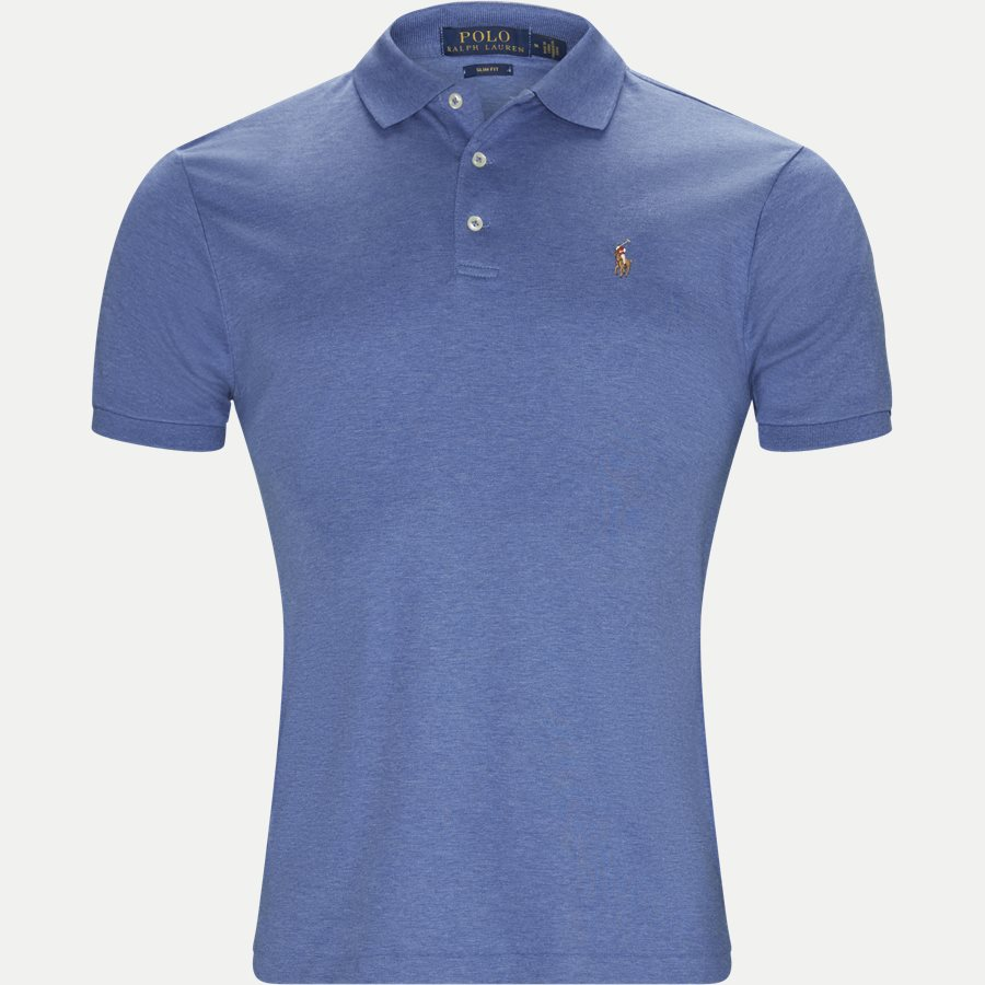 710685514 - Soft-Touch Polo T-shirt - T-shirts - Slim - DENIM - 1
