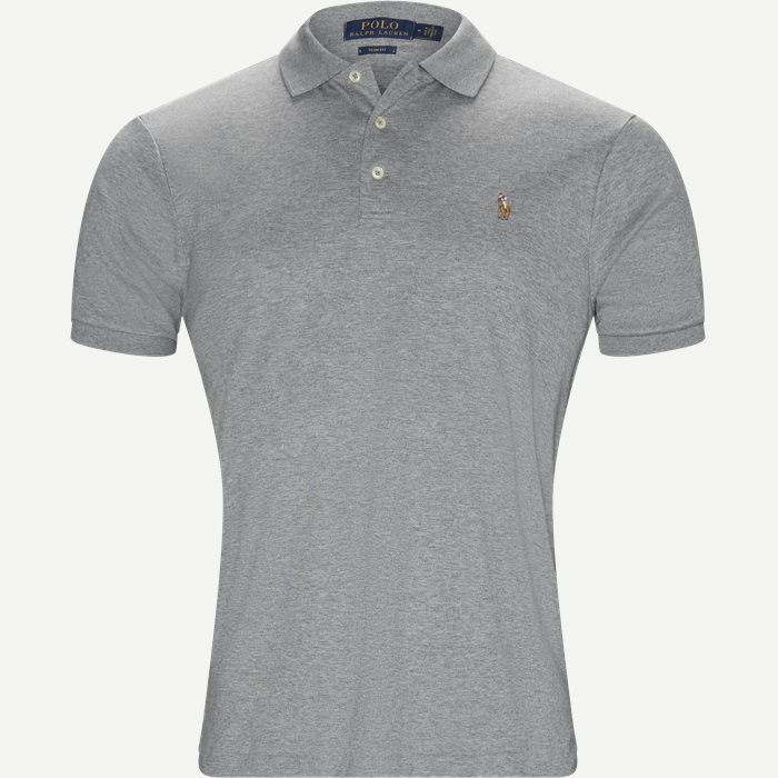 Soft-Touch Polo T-shirt - T-shirts - Slim - Grå
