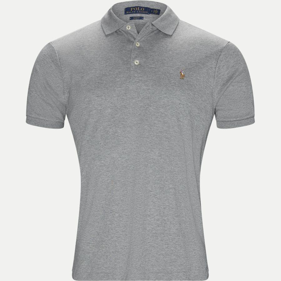 710685514 - Soft-Touch Polo T-shirt - T-shirts - Slim - GRÅ - 1