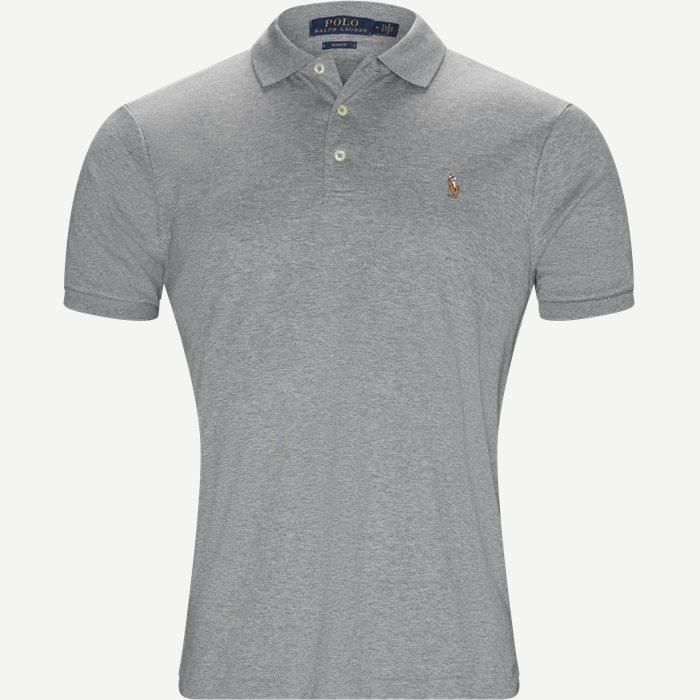 Soft-Touch Polo T-shirt - T-shirts - Slim - Grå