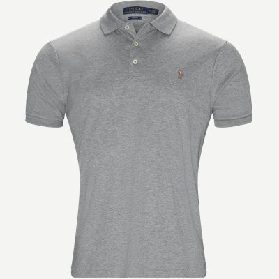 Soft-Touch Polo T-shirt Slim | Soft-Touch Polo T-shirt | Grå