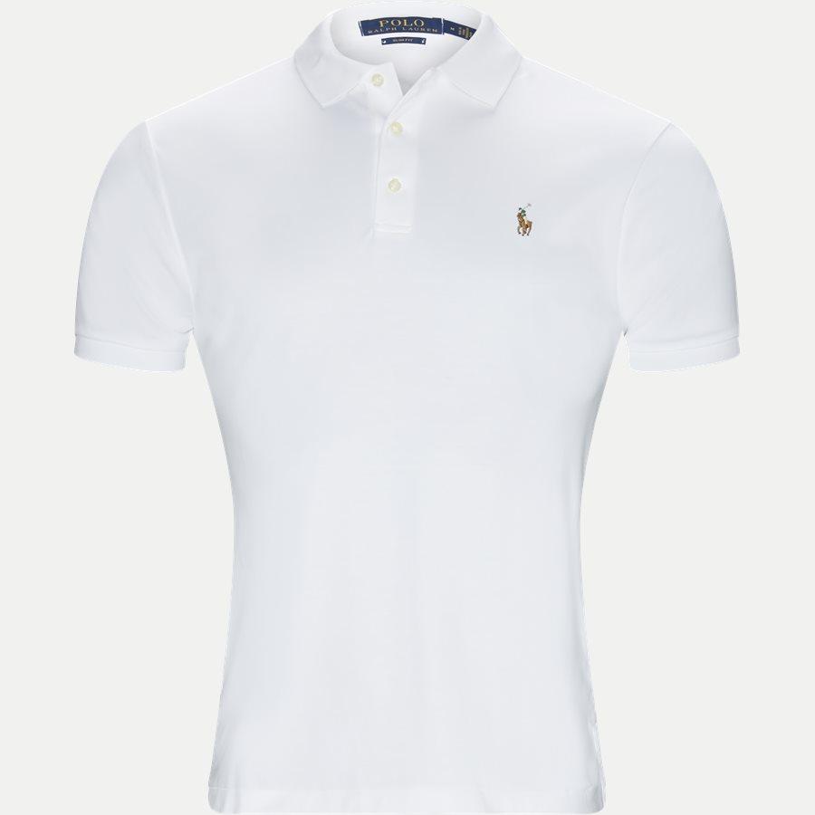 710685514 - Soft-Touch Polo T-shirt - T-shirts - Slim - HVID - 1
