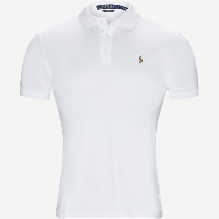 Soft-Touch Polo T-shirt - T-shirts - Slim - Hvid