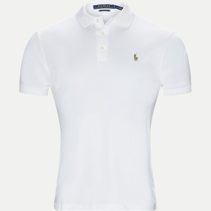710685514 - Soft-Touch Polo T-shirt - T-shirts - Slim - HVID - 1