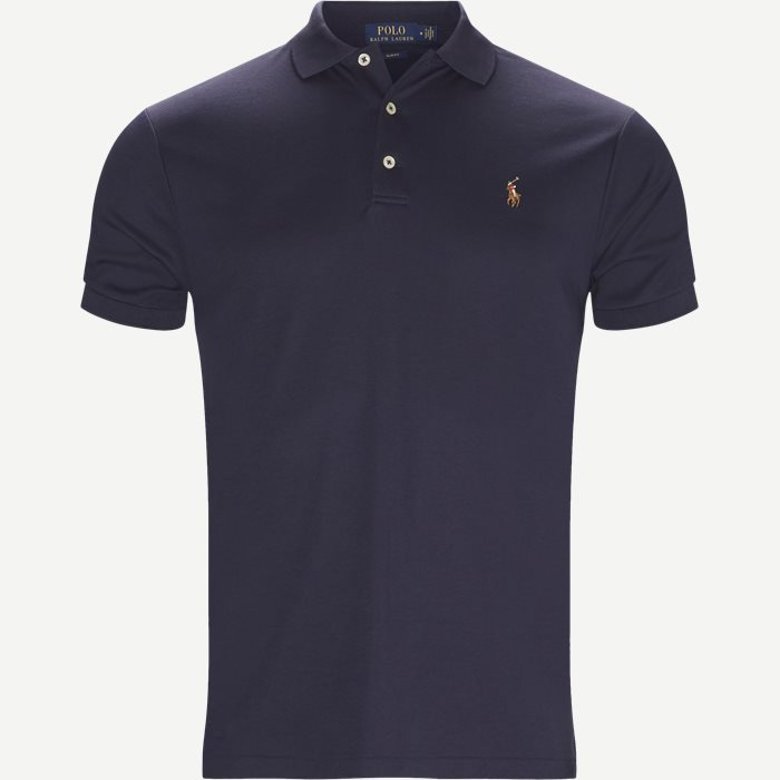 Soft-Touch Polo T-shirt - T-shirts - Slim - Blå