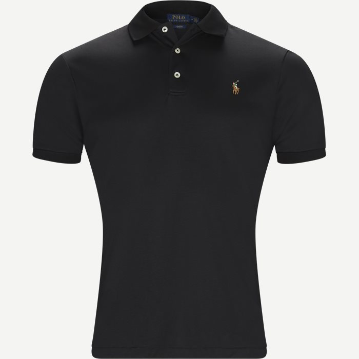 Soft-Touch Polo T-shirt - T-shirts - Slim - Sort