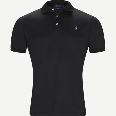 Soft-Touch Polo T-shirt Slim | Soft-Touch Polo T-shirt | Sort