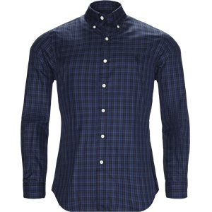 Check Button-Down Shirt Slim | Check Button-Down Shirt | Blå