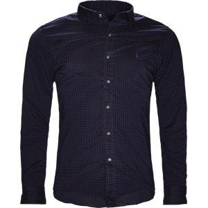 Geometric Print Shirt Slim | Geometric Print Shirt | Blå