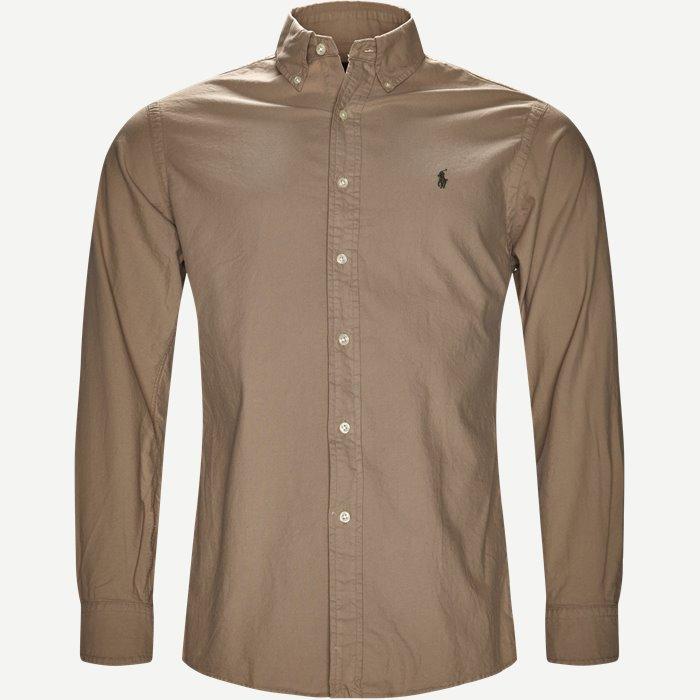 Classic Oxford Shirt - Skjorter - Slim - Sand