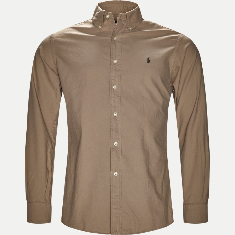 710723610. - Classic Oxford Shirt - Skjorter - Slim - SAND - 1