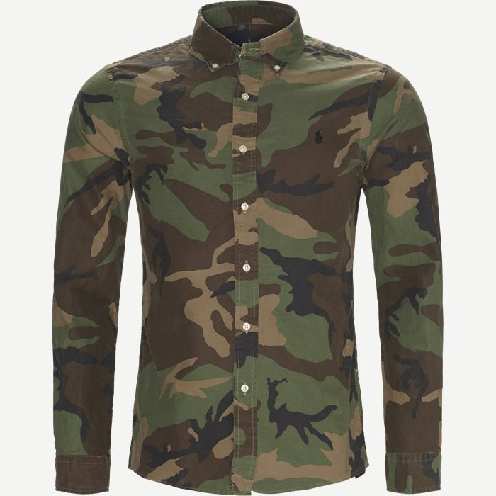 Oxford Camo Shirt - Skjorter - Slim - Army
