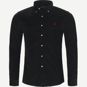 Corduroy Shirt Slim | Corduroy Shirt | Sort