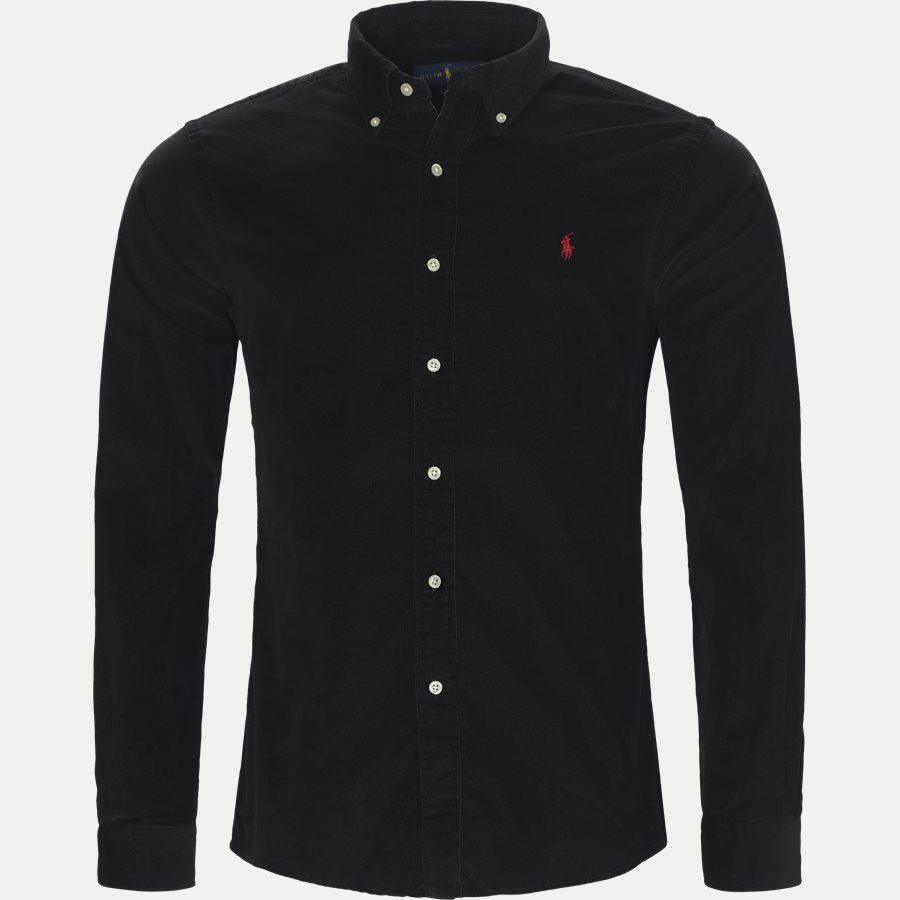 710723580 - Corduroy Shirt - Skjorter - Slim - SORT - 1