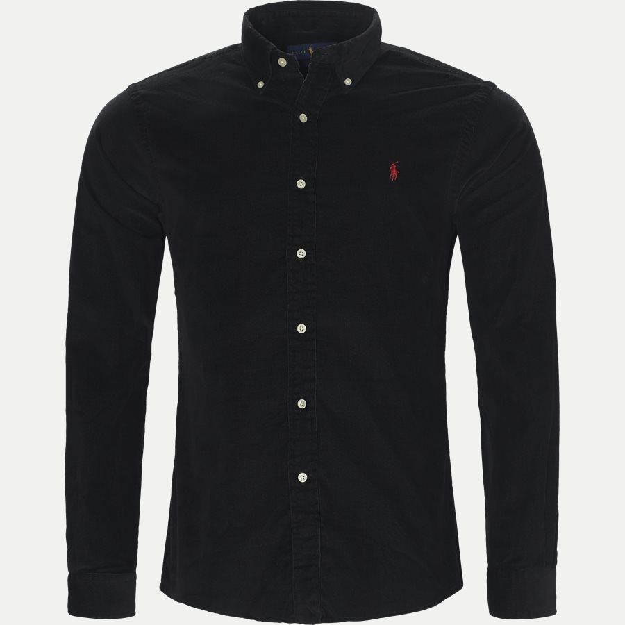 710723580 - Corduroy Shirt - Skjorter - Slim - SORT - 1