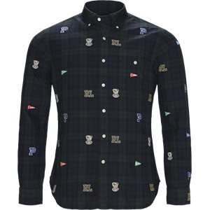 Printed Check Oxford Shirt Slim | Printed Check Oxford Shirt | Grøn
