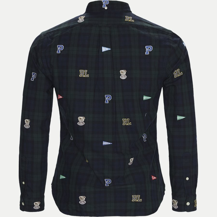710723609 - Printed Check Oxford Shirt - Skjorter - Slim - GRØN - 2