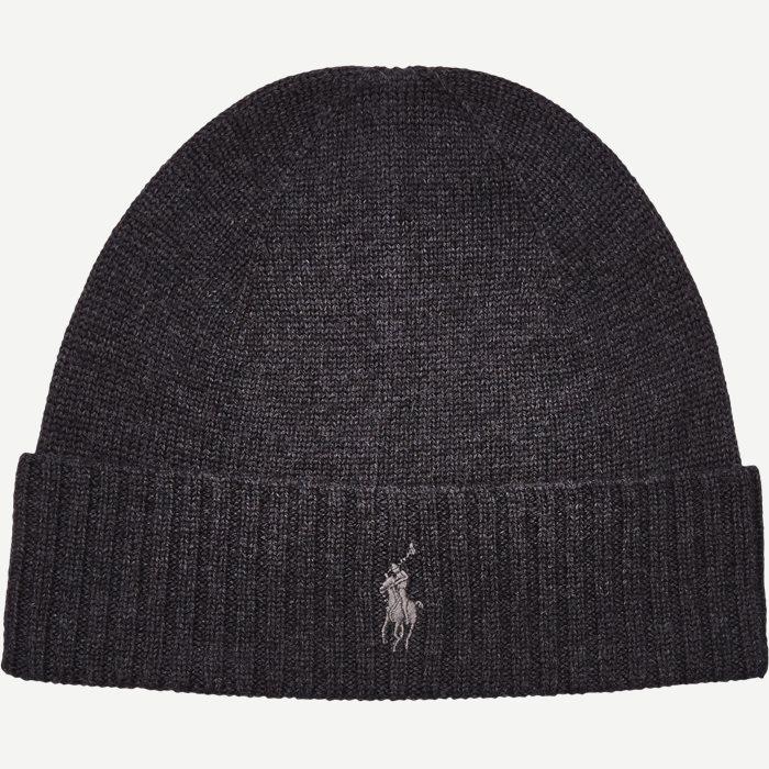 Logo Wool Beanie - Caps - Grå