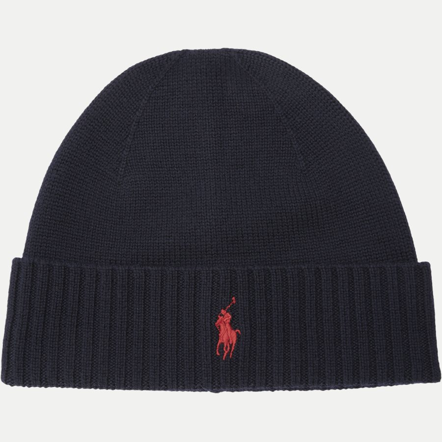 710719819 - Logo Wool Beanie - Caps - NAVY - 1