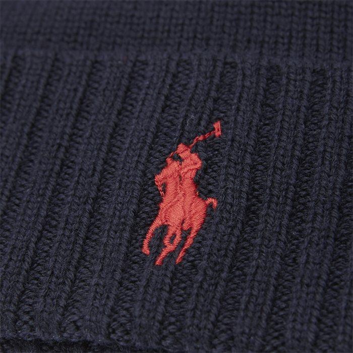 Logo Wool Beanie - Caps - Blå