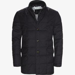 Quilted Down Coat Tailored fit | Quilted Down Coat | Blå