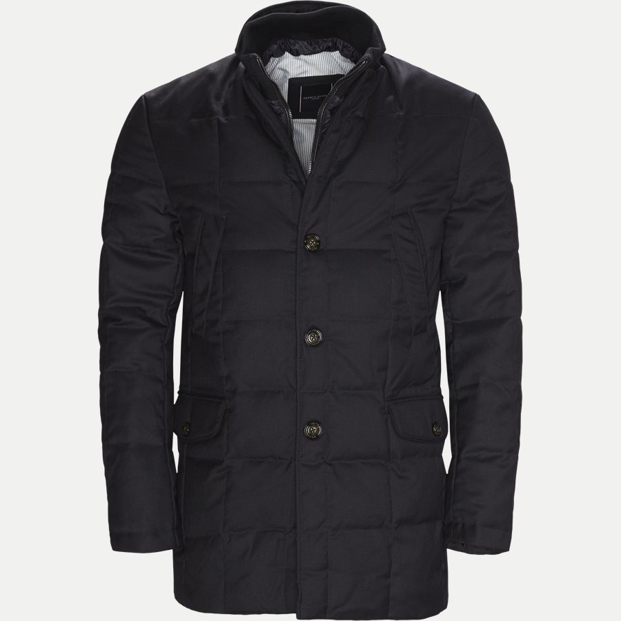 QUILTED DOWN COAT - Quilted Down Coat - Jakker - Tailored fit - NAVY - 1