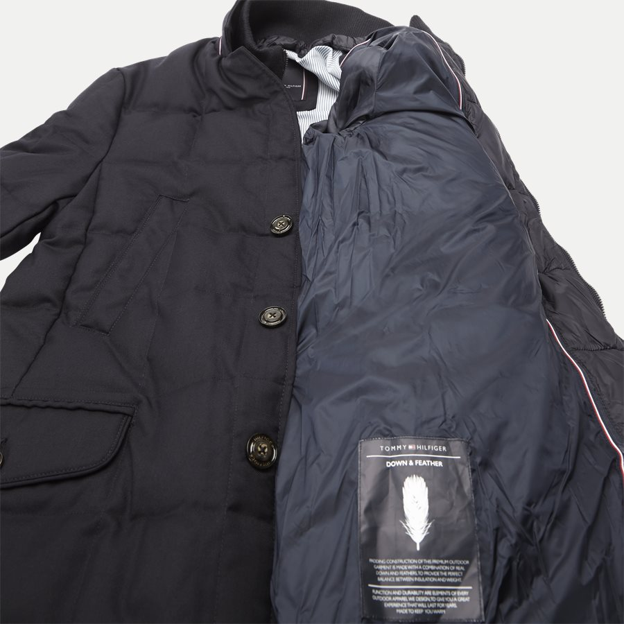 QUILTED DOWN COAT - Quilted Down Coat - Jakker - Tailored fit - NAVY - 8