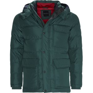 Down Hooded Bomber Jacket Regular | Down Hooded Bomber Jacket | Grøn