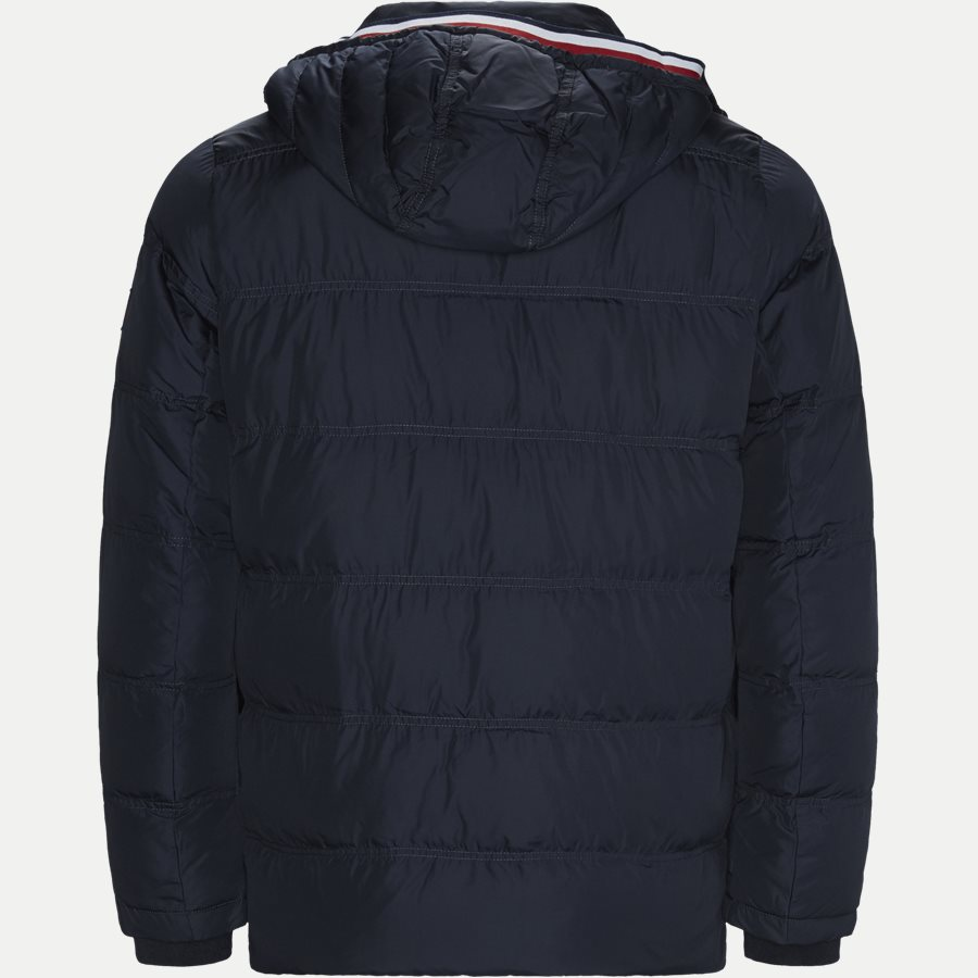 TOMMY DOWN HOODED BOMBER - Down Hooded Bomber Jacket - Jakker - Regular - NAVY - 2