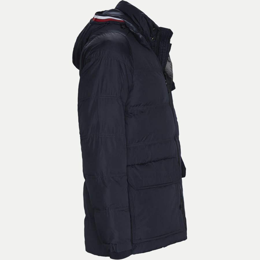 TOMMY DOWN HOODED BOMBER - Down Hooded Bomber Jacket - Jakker - Regular - NAVY - 4