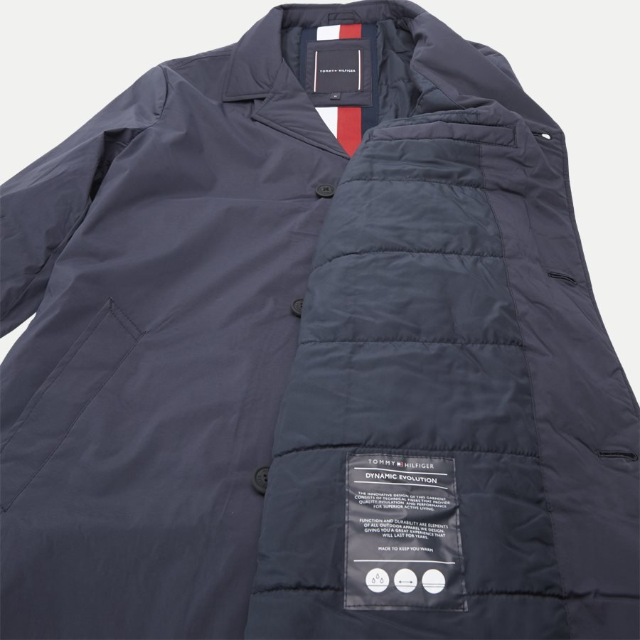 PADDED NYLON MAC - Padded Mac Vindjakke - Jakker - Regular - NAVY - 8