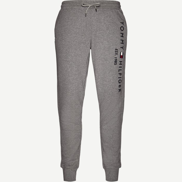 Basic Branded Sweatpants - Bukser - Regular - Grå