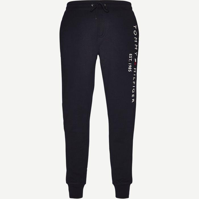 Basic Branded Sweatpants - Bukser - Regular - Blå