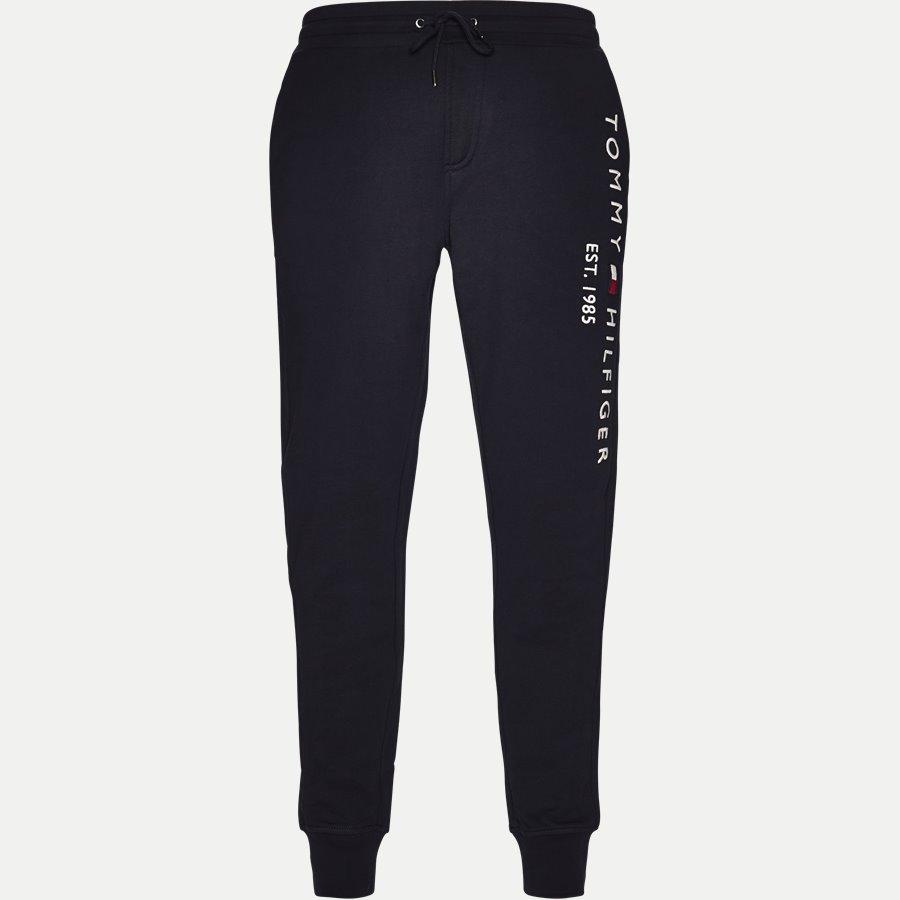 BASIC BRANDED SWEAT PANTS - Basic Branded Sweatpants - Bukser - Regular - NAVY - 1