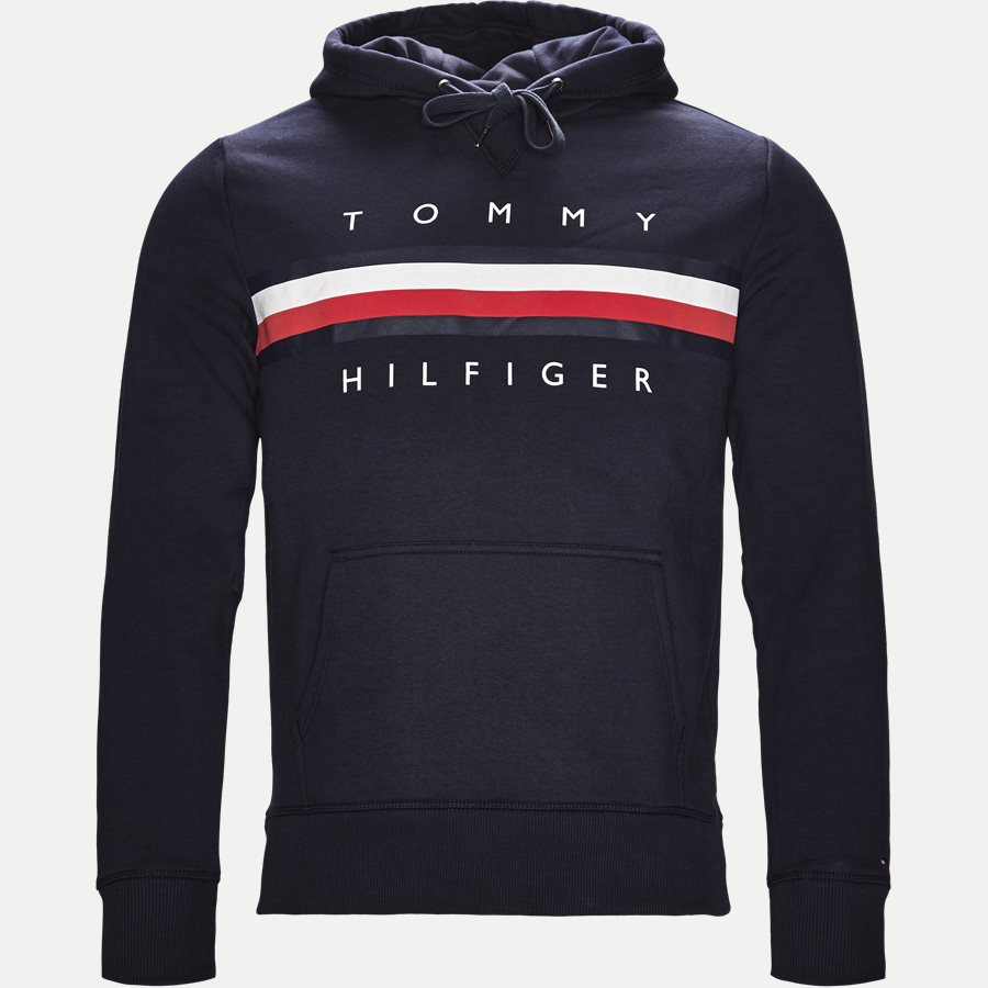 LOGO HOODY - Logo Hoodie - Sweatshirts - Regular - NAVY - 1