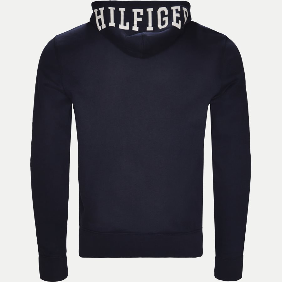 HILFIGER HOODED - Hooded Zippered Sweatshirt - Sweatshirts - Regular - NAVY - 2