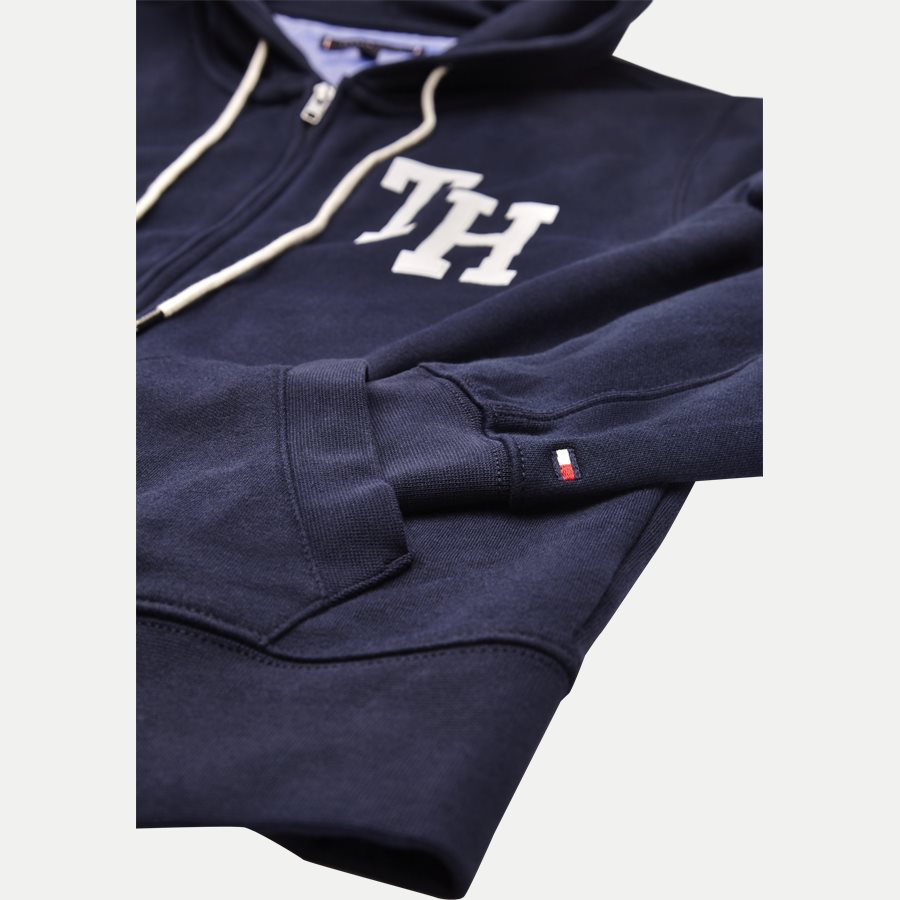 HILFIGER HOODED - Hooded Zippered Sweatshirt - Sweatshirts - Regular - NAVY - 4