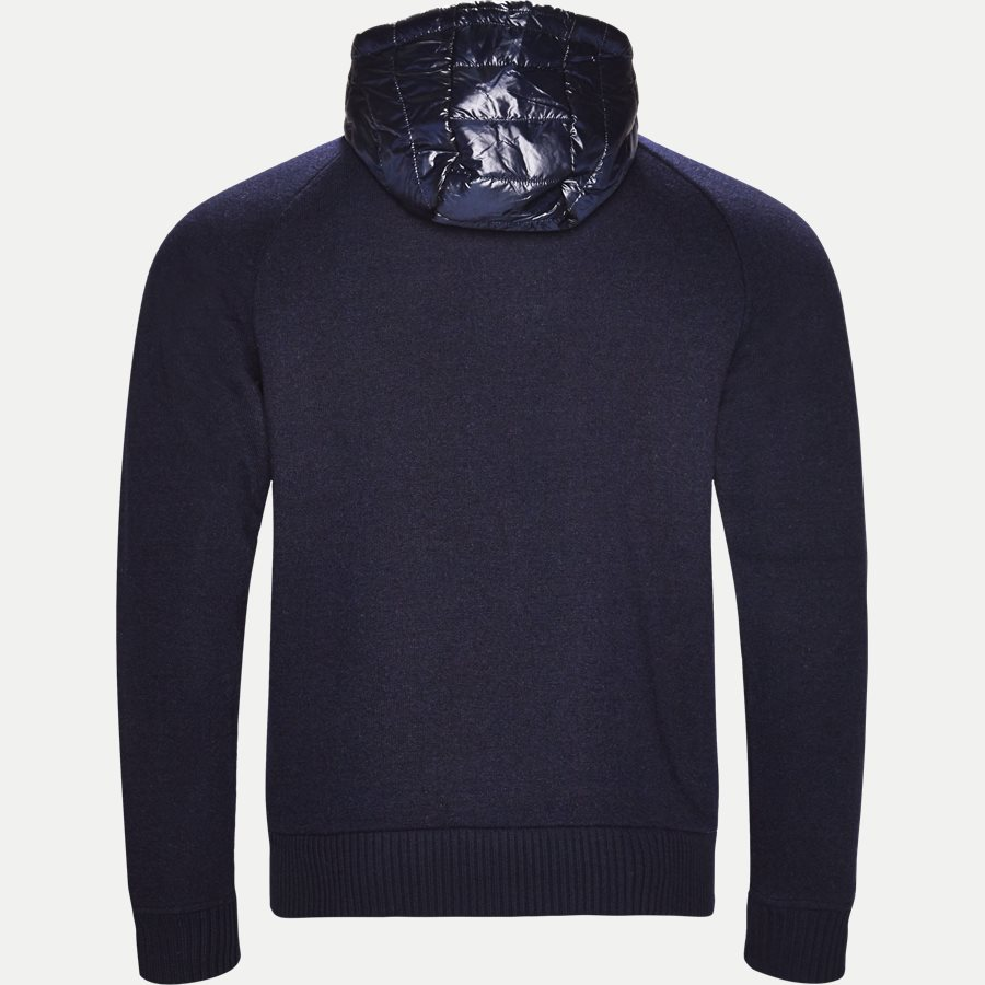 MIXED MEDIA WOOL ZIP HOODIE - Mixed Media Wool Zip Hoodie - Sweatshirts - Regular - NAVY - 2