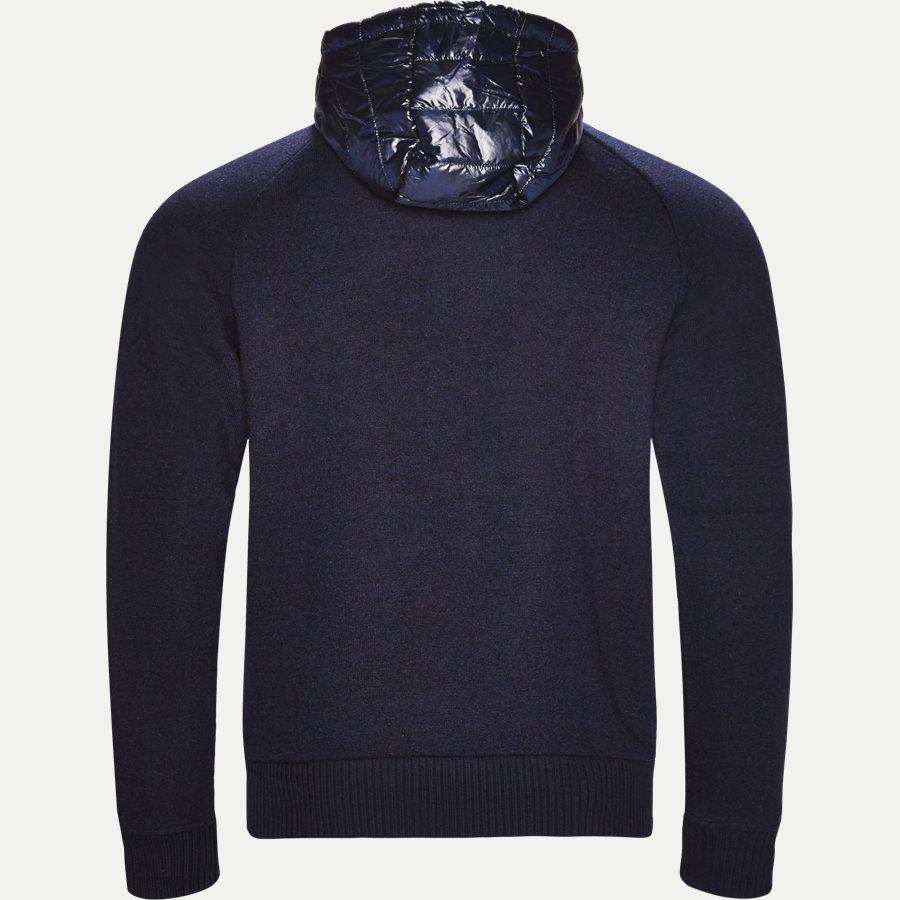MIXED MEDIA WOOL ZIP HOODIE - Mixed Media Wool Zip Hoodie - Sweatshirts - Regular - NAVY - 2