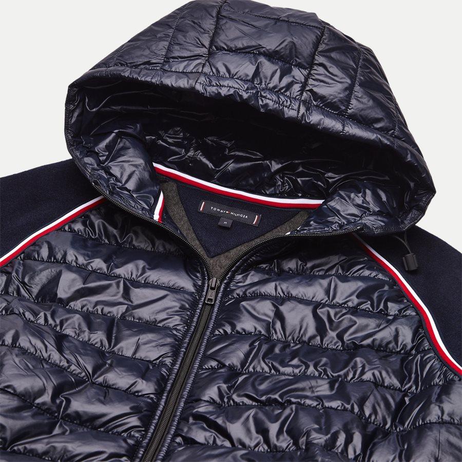 MIXED MEDIA WOOL ZIP HOODIE - Mixed Media Wool Zip Hoodie - Sweatshirts - Regular - NAVY - 3