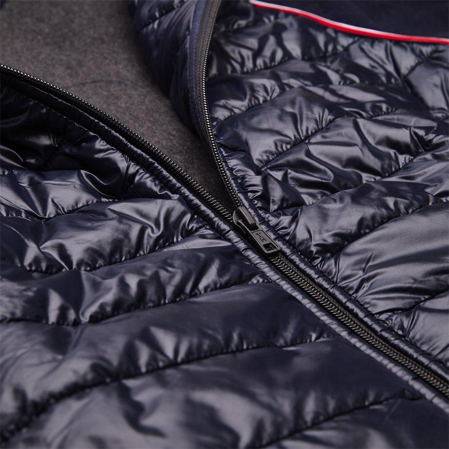 MIXED MEDIA WOOL ZIP HOODIE - Mixed Media Wool Zip Hoodie - Sweatshirts - Regular - NAVY - 5