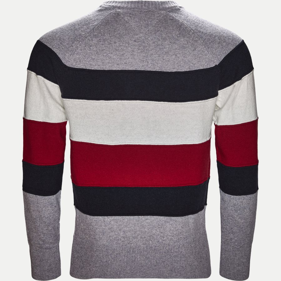 COLORBLOCK STRIPE CNECK - Colorblock Stripe Crew Neck - Strik - Regular - GRÅ - 2
