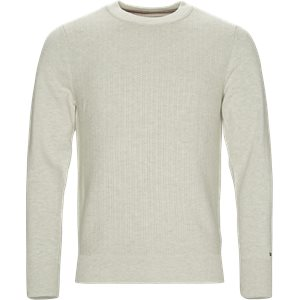 Structured Crew Neck Regular | Structured Crew Neck | Grå