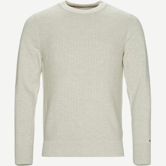 Structured Crew Neck - Strik - Regular - Grå