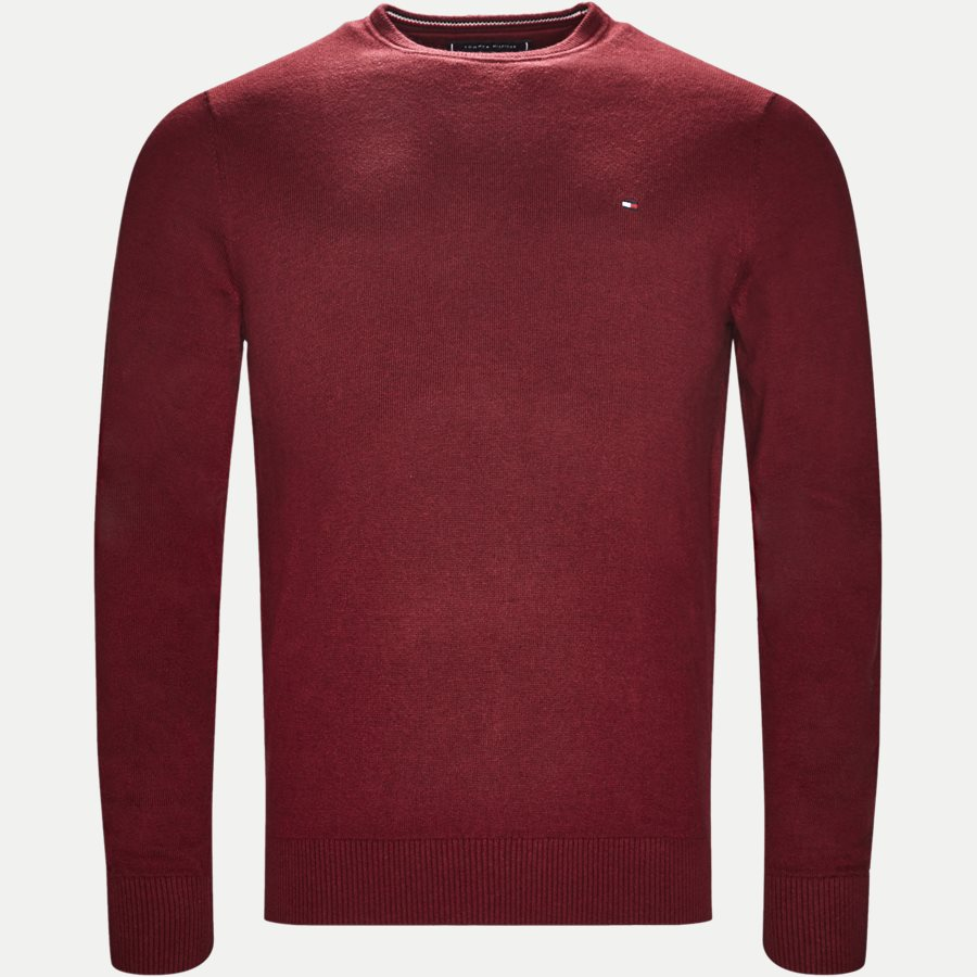 PIMA COTTON CASHMERE CNECK - Pima Cotton Cashmere Crew Neck - Strik - Regular - BORDEAUX - 1